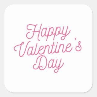 Pegatina feliz rosado del el día de San Valentín