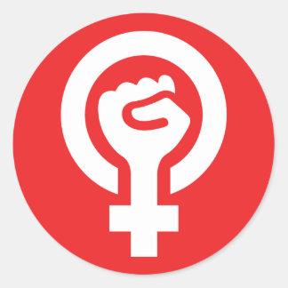 Pegatina feminista del símbolo del poder