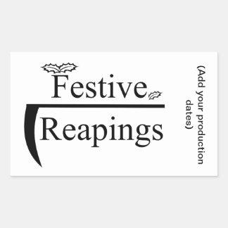 Pegatina festivo de Reapings