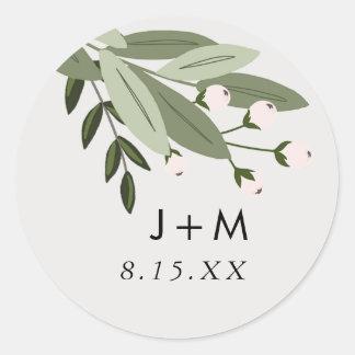 Pegatina floral de las puntillas del boda