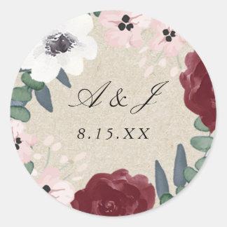 Pegatina floral romántico