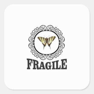Pegatina frágil de la mariposa
