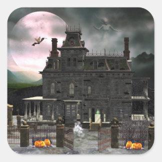 Pegatina frecuentado de la casa 2 de Halloween