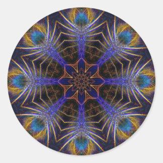 Pegatina geométrico del arte de los fractales del