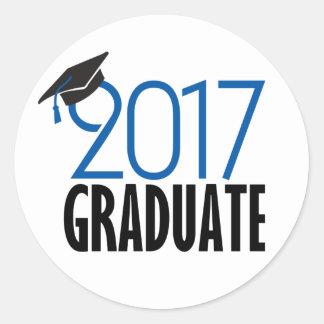 Pegatina graduado negro y del azul 2017