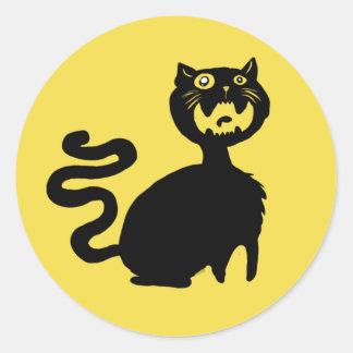 Pegatina hambriento del gato