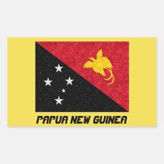 Pegatina hermoso de la bandera de Papúa Nueva