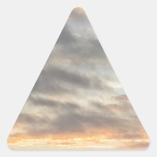 Pegatina hermoso de la puesta del sol