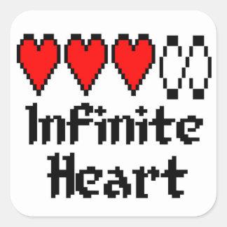 Pegatina infinito del corazón