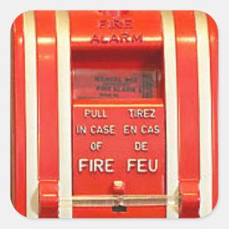 Pegatina la alarma de incendio