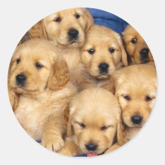 Pegatina lindo de los perritos:)