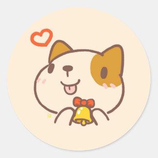 Pegatina lindo del perro de Kawaii Inu