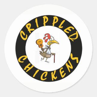 Pegatina lisiado de los pollos - 1,5 pulgadas de