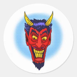 Pegatina loco del diablo