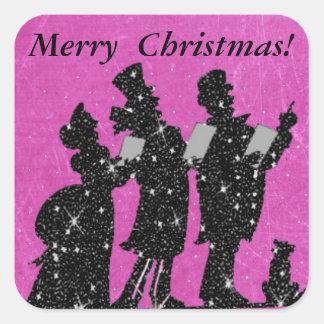 Pegatina magnífico de los Carolers del navidad