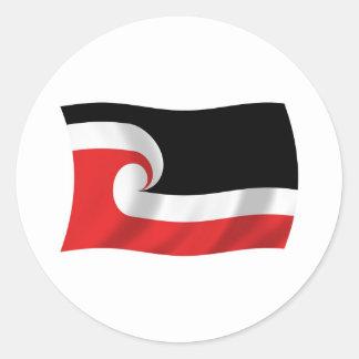Pegatina maorí de la bandera de la gente