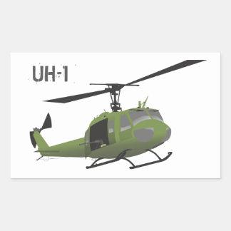 Pegatina militar del helicóptero de Huey