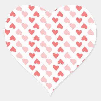 Pegatina minúsculo del corazón de los corazones