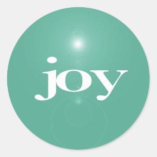 Pegatina moderno del navidad de la alegría