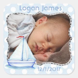 Pegatina náutico de la foto del bebé