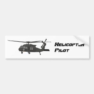 Pegatina negro del helicóptero