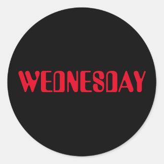 Pegatina negro rojo de miércoles Amelia por Janz