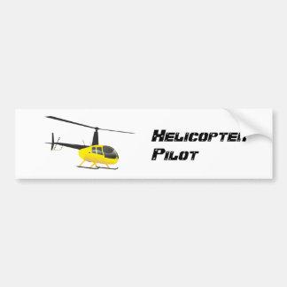 Pegatina negro y amarillo del helicóptero