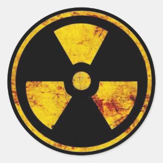 Pegatina nuclear sucio de la señal de peligro