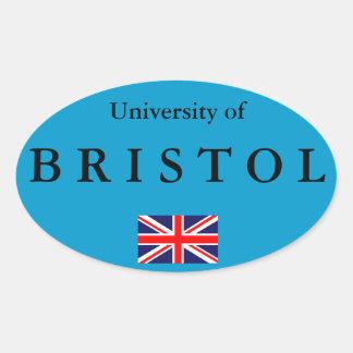 Pegatina oval europeo de la universidad de Bristol