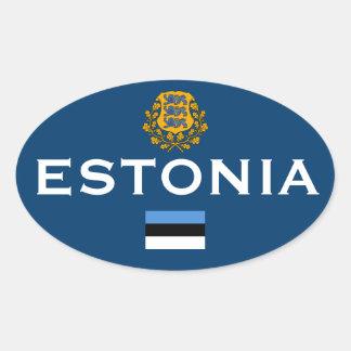 Pegatina oval europeo del estilo de Estonia