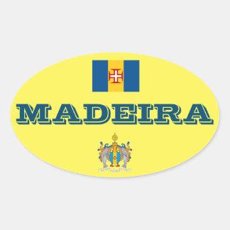 Pegatina oval europeo del estilo de Madeira