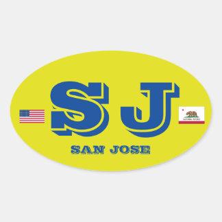 Pegatina oval europeo del estilo de San Jose