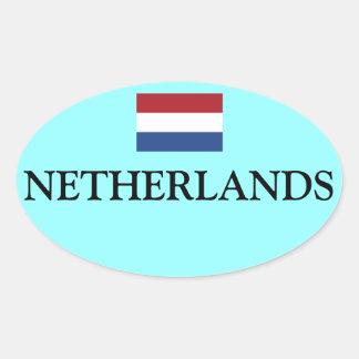 Pegatina oval Nederland Vlag Ovale de la bandera