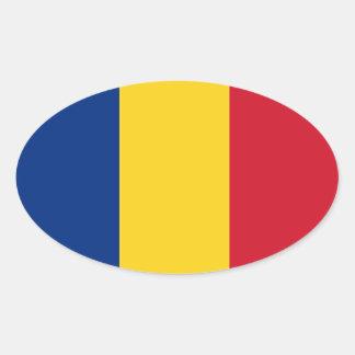 Pegatina oval România de la bandera de Romania*