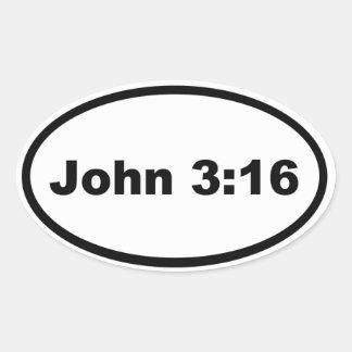 Pegatina Ovalada 3:16 de Juan