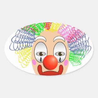 Pegatina Ovalada 97Clown Head_rasterized