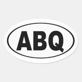 Pegatina Ovalada ABQ Albuquerque New México