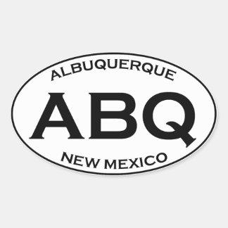 Pegatina Ovalada ABQ - Albuquerque New México