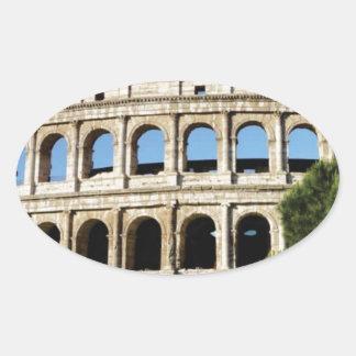 Pegatina Ovalada agujeros y arcos