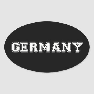 Pegatina Ovalada Alemania