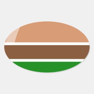 Pegatina Ovalada alimentos de preparación rápida de la hamburguesa
