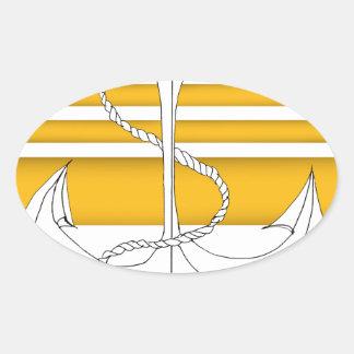 Pegatina Ovalada almirante del oro, fernandes tony