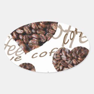 "Pegatina Ovalada ¡""Amo el café! """