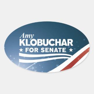 Pegatina Ovalada Amy Klobuchar para el senado