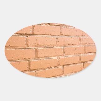 Pegatina Ovalada Ángulo de visión en la pared de ladrillo