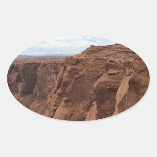 Pegatina Ovalada ARIZONA - curva de herradura C - roca roja