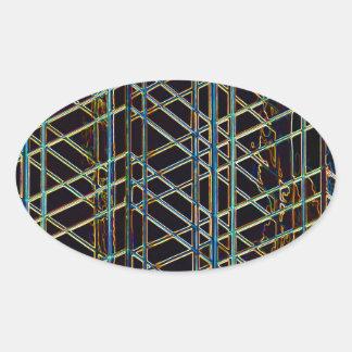 Pegatina Ovalada Arquitectura abstracta
