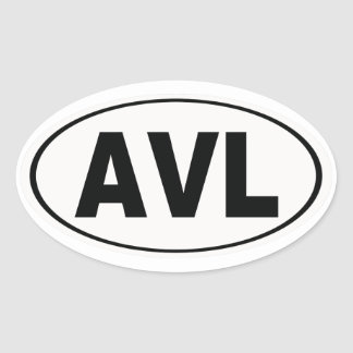 Pegatina Ovalada AVL Asheville Carolina del Norte