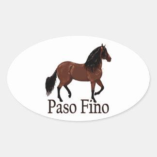 """Pegatina Ovalada Bahía """"Paso Fino """" de Paso Fino"""