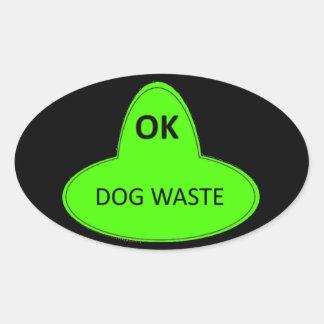Pegatina Ovalada Basura del perro - ACEPTABLE
